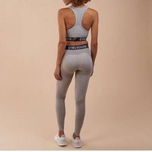 Gymshark flex legging grey marl and black